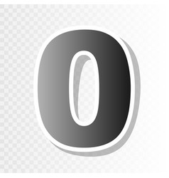 Number 0 sign design template element new vector