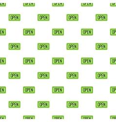 Open sign pattern cartoon style vector