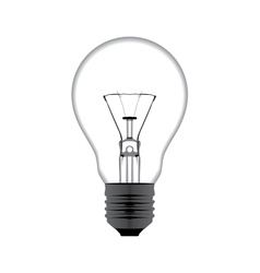 realistic of a light bulb isolated on white vector image vector image