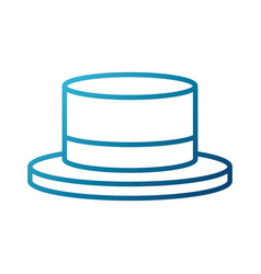 ribbon men hat vector image