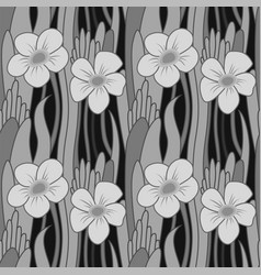 seamless grayscale flower vector image