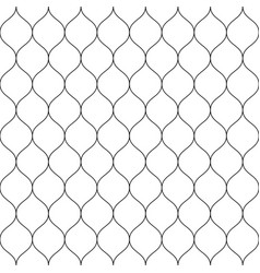 seamless wired netting fence simple black vector image vector image