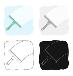 Squeegee icon in cartoon style isolated on white vector