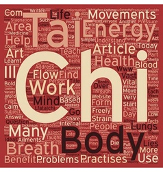 Tai chi text background wordcloud concept vector
