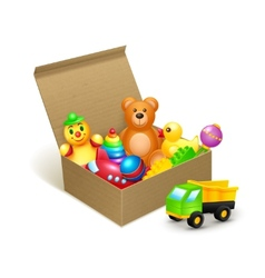 Toys box emblem vector image vector image