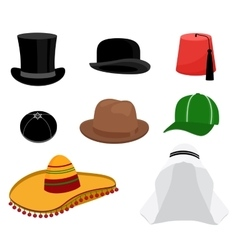 Traditional hat set vector