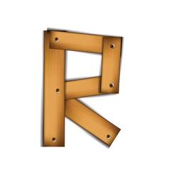 wooden type r vector image vector image
