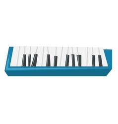Top view of piano keyboard vector
