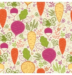 Root vegetables seamless pattern background vector