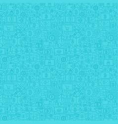 Blue line bitcoin seamless pattern vector