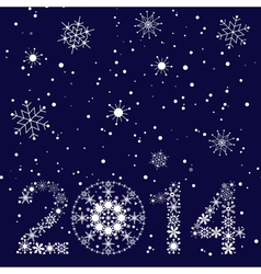 2014 New year card vector image vector image