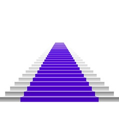 3d image of violet carpet on white stair vector