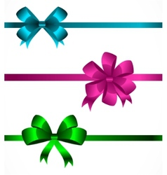 Collection of color bows 2 vector