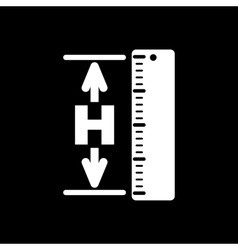 The height icon altitude elevation level hgt vector