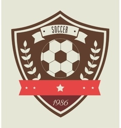 soccer league design vector image