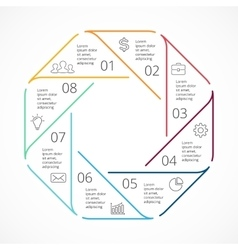 circle linear arrows infographic diagram vector image