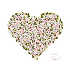 Flowers in the shape of a heart vector