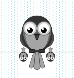 Bird shelter rain vector