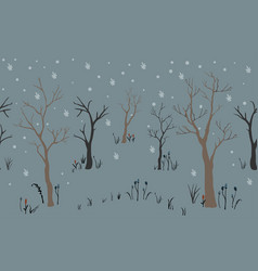 cute tree background pastel background vector image