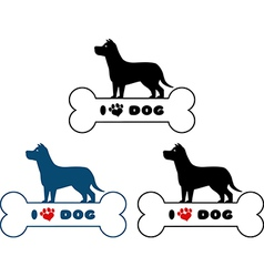 Dog park icon vector