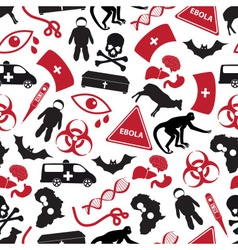 Ebola disease red and black icons pattern eps10 vector