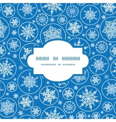 Falling snowflakes frame seamless pattern vector