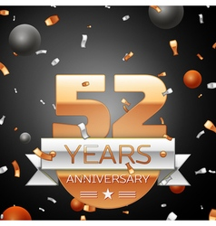 Fifty two years anniversary celebration background vector