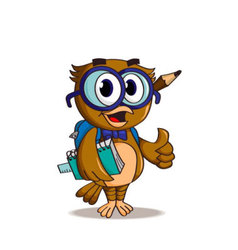 Funny student owl vector