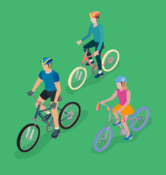 group of bicyclists vector image vector image