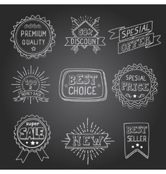 Hand drawn style badges and elements best choice vector image vector image