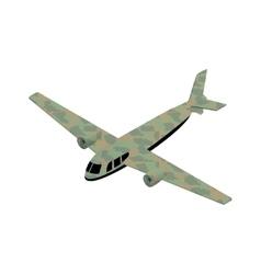 Isometric airplane military icon vector