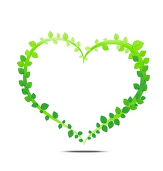 Leaf of heart vector image