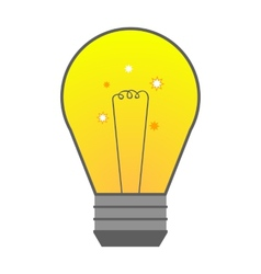 light bulb in flat style element ideas vector image vector image