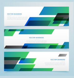 Modern geometric banners and headers set vector