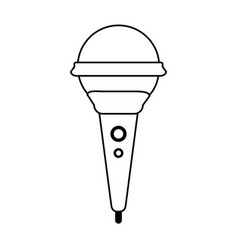 Modern microphone with cord icon image vector