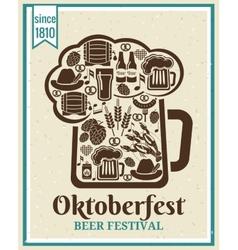 Oktoberfest beer festival poster vector