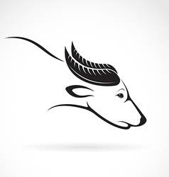 On white background buffalo vector