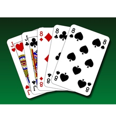 Poker hand - Full house vector image