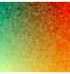 Polygonal abstract Background - green yellow vector image vector image