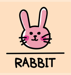 rabbit hand-drawn style vector image vector image