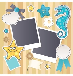 scrapbook set vector image vector image