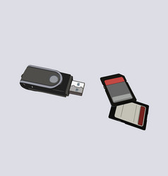 Sd memory card usb adapter vector