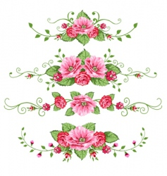 set of rose vector image