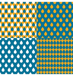 Set orange blue water drops background vector