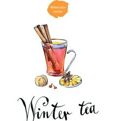 winter tea vector image vector image