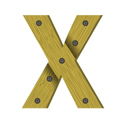 wood letter X vector image vector image