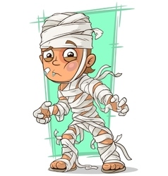 Cartoon disabled boy with bandage vector
