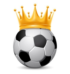 Soccer ball in crown vector image