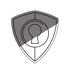 Shield security abstract lock vector