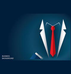 Businessman suit and red necktie vector